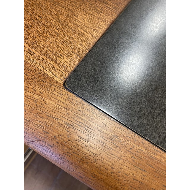Mid 20th Century Mid 20th Century Alma Walnut + Mahogany Castilian Series Desk For Sale - Image 5 of 13