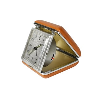Vintage Equity Wind Up Folding Traveler Alarm Clock With Hard Case Preview