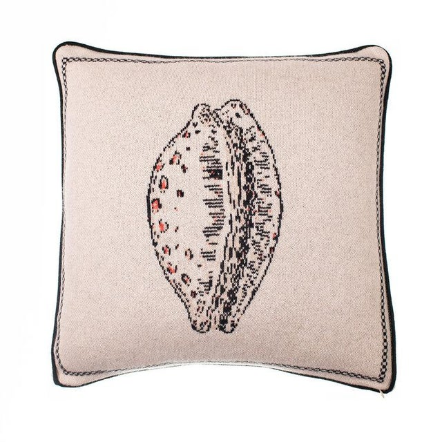 Contemporary Fee Greening - Cowry Shell Cashmere Pillow For Sale - Image 3 of 3