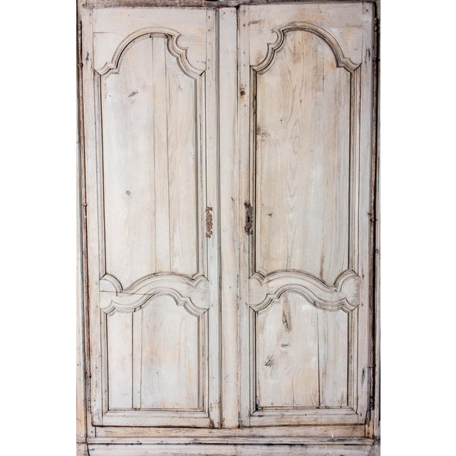 Shabby Chic 19th Century Antique French Oak Armoire For Sale - Image 3 of 13