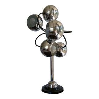 1970s Robert Sonneman Style Chrome Eyeball Table Lamp