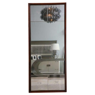Italian Modern Mahogany Mirror in the Style of Gio Ponti For Sale