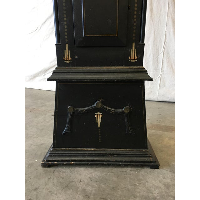 Brown 19th Century Danish Empire Long Case Clock For Sale - Image 8 of 11