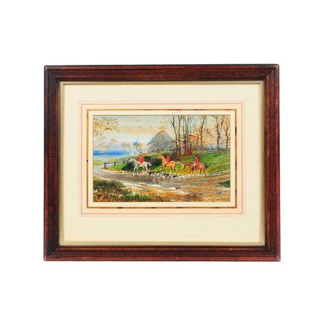19th Century English Fox Hunt Oil Painting - Image 1 of 8