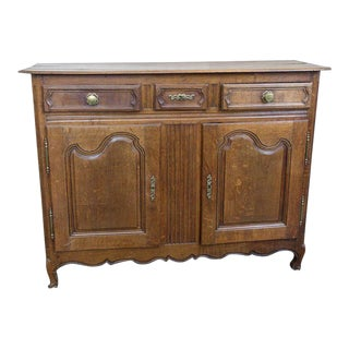 Louis XV Style Rustic Oak Buffet For Sale