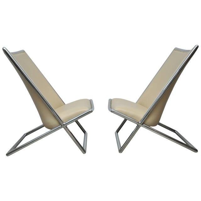 Ward Bennett Scissor Chairs For Sale