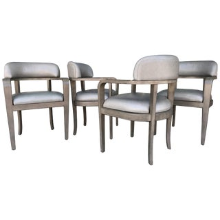 Set of Four Custom Modern Game or Dining Chairs For Sale