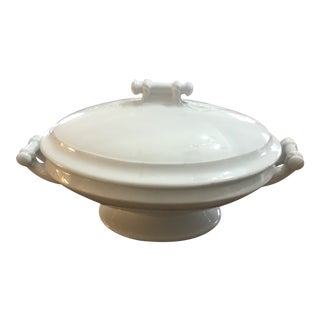 Antique 1900s Meakin Ironstone Covered Dish For Sale