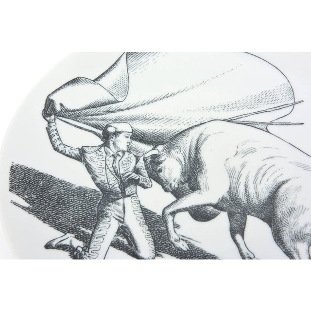 1950s Piero Fornasetti Porcelain Bullfight Plates - Set of 6 For Sale In Miami - Image 6 of 11