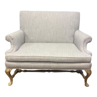 Contemporary Queen Anne Style Settee
