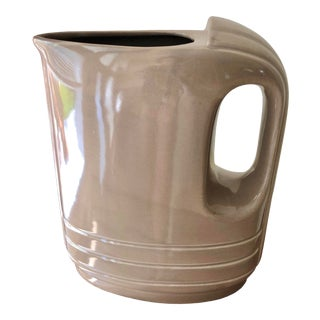 """1940s Art Deco-Inspired Hall China / Westinghouse """"Hercules"""" Refrigerator Ware Pitcher For Sale"""