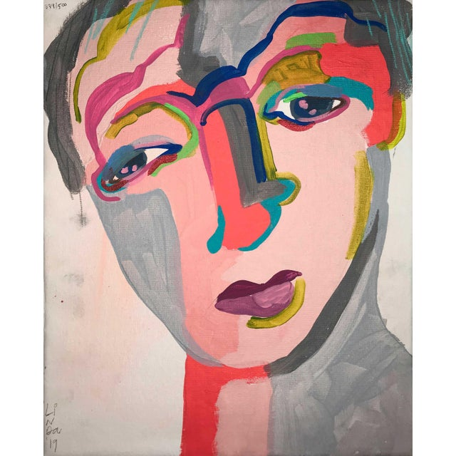 Contemporary Portrait Paintings Abstract Collection - Set of 6 For Sale In Detroit - Image 6 of 8