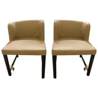 Modern Leather Chairs - a Pair For Sale