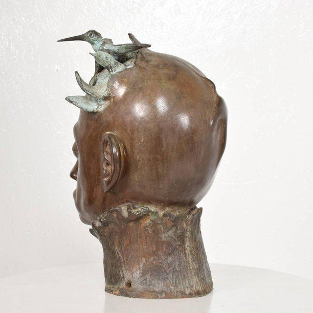 Surrealist Bronze Sculpture, Mexico, 1960s For Sale - Image 9 of 13
