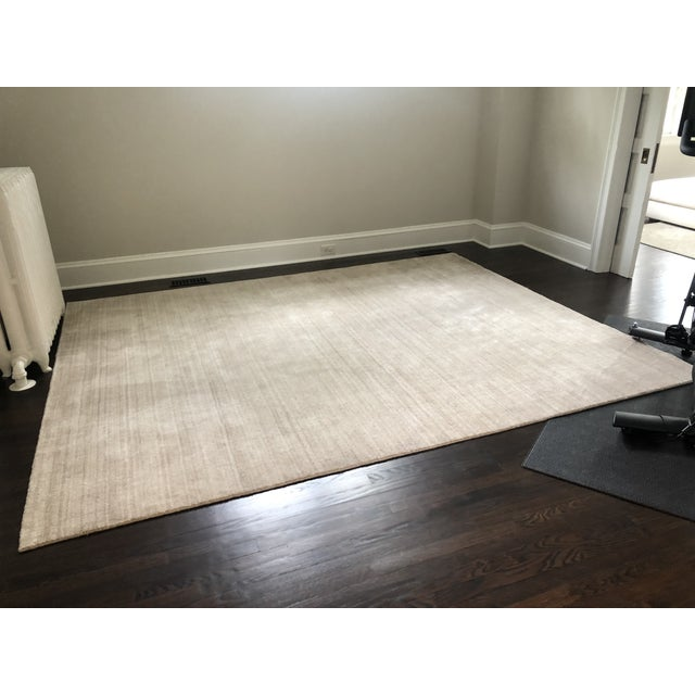 Textile Serena & Lily Handknotted Champagne Area Rug For Sale - Image 7 of 7