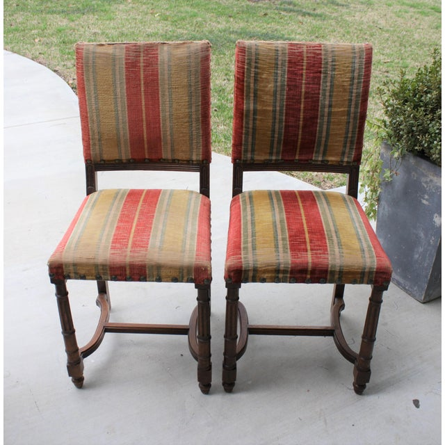 This pair of vintage, Spanish Revival/Tudor Revival chairs would be perfect for your Spanish Colonial or Tudor style home....