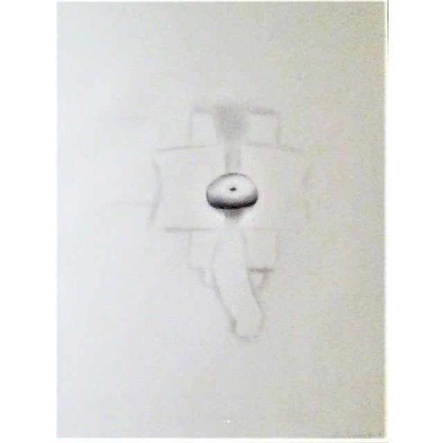 Abstract 1970s Modern Abstract Cuban Graphite / Paper Art by Agustin Fernandez For Sale - Image 3 of 12