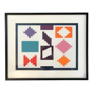 "Yaacov Agam ""Design Iv"" Serigraph 1970 For Sale"