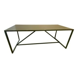 Blue Dot Green Strut XL Table For Sale