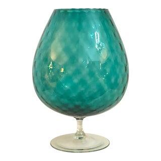 1960's Large Optic Art Glass Snifter Bowl/Vase For Sale