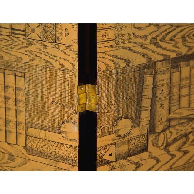 Fornasetti Style Three Panel Screen For Sale - Image 7 of 8