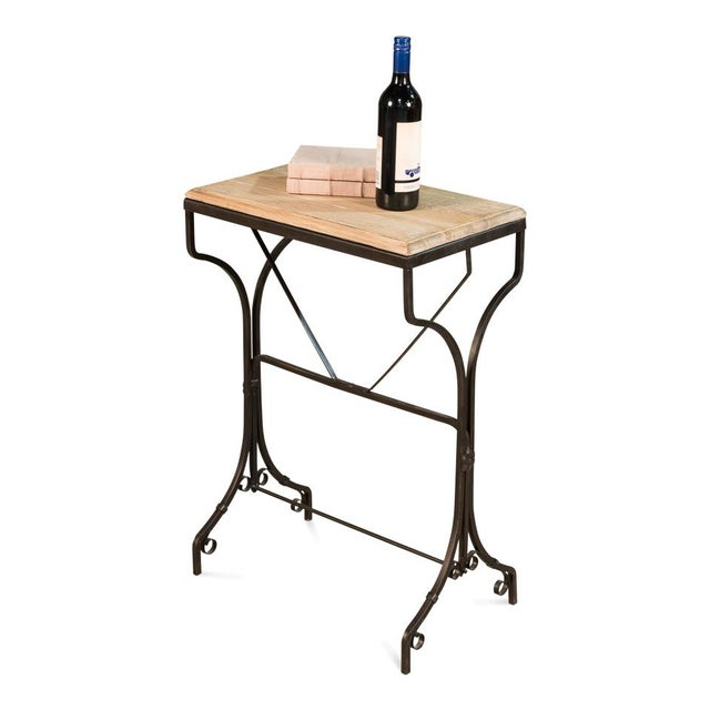 2010s Reclaimed Wood Bistro Table For Sale - Image 5 of 6