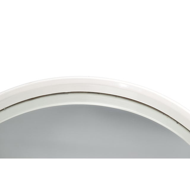 Round White Bentwood Wall Mirror For Sale In Miami - Image 6 of 8