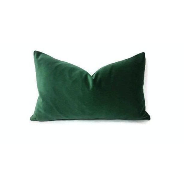 Kravet Versailles Velvet Emerald Green Lumbar Pillow Cover For Sale In Portland, OR - Image 6 of 6