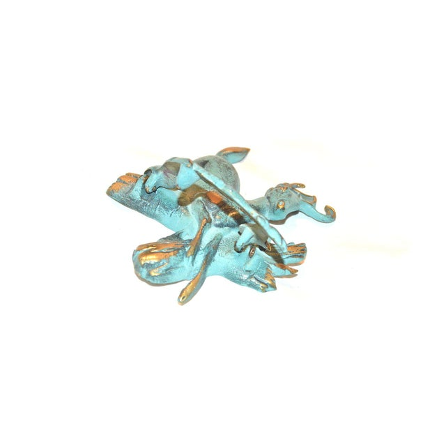 Verdigris and Gold Stag Door Knocker For Sale - Image 4 of 9