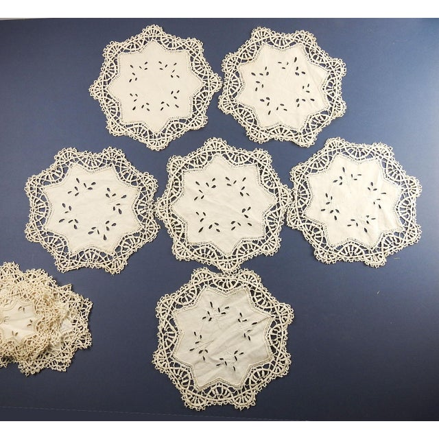 1930s Vintage Lace Table Mat Set - Set of 17 For Sale - Image 5 of 7