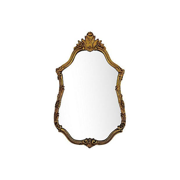 Gesso Large Ornate 1940s French Gold Gilt Wall Mirror For Sale - Image 7 of 10