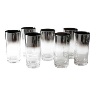Silver Ombre High Ball Glasses - Set of 7
