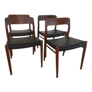 1960s Danish Modern Niels O Moller Teak Dining Chairs - Set of 4 For Sale
