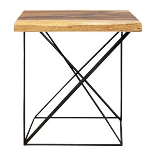 Arts and Crafts Inch High Wood and Iron Side Table