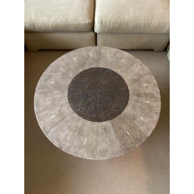R&Y Augousti Contemporary Shagreen Coffee Table For Sale In Chicago - Image 6 of 11