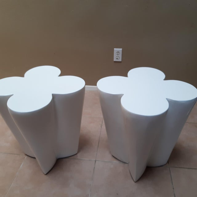 Contemporary Lacquered Clover Leaf Side Tables - a Pair For Sale - Image 4 of 6