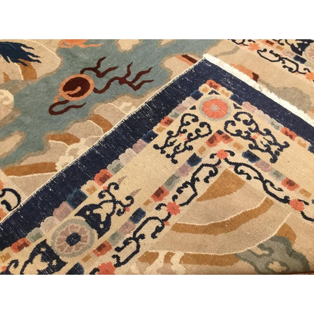 1920s 1920s Chinese Peking Rug Dragon Rug-5′2″ × 8′8″ For Sale - Image 5 of 6