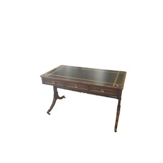 20th Century Regency Beacon Hill Mahogany and Rosewood Leather Top Writing Desk For Sale