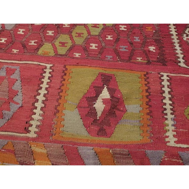 "Textile ""Honeycomb"" Sharkisla Kilim For Sale - Image 7 of 10"