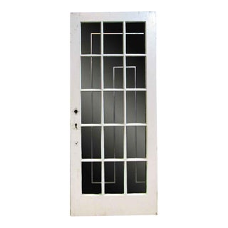 White Oak French Door With Fifteen Glass Lights
