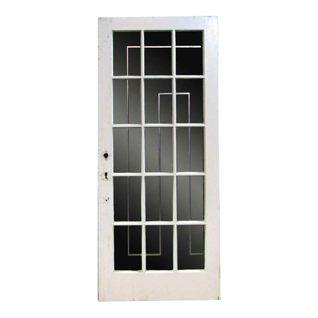 White Oak French Door With Fifteen Glass Lights Chairish
