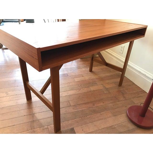Two Drawer Danish Teak Desk - Image 4 of 5