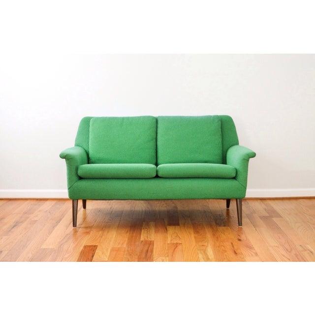 Mid-Century Folke Ohlsson Green Loveseat Sofa - Image 3 of 8