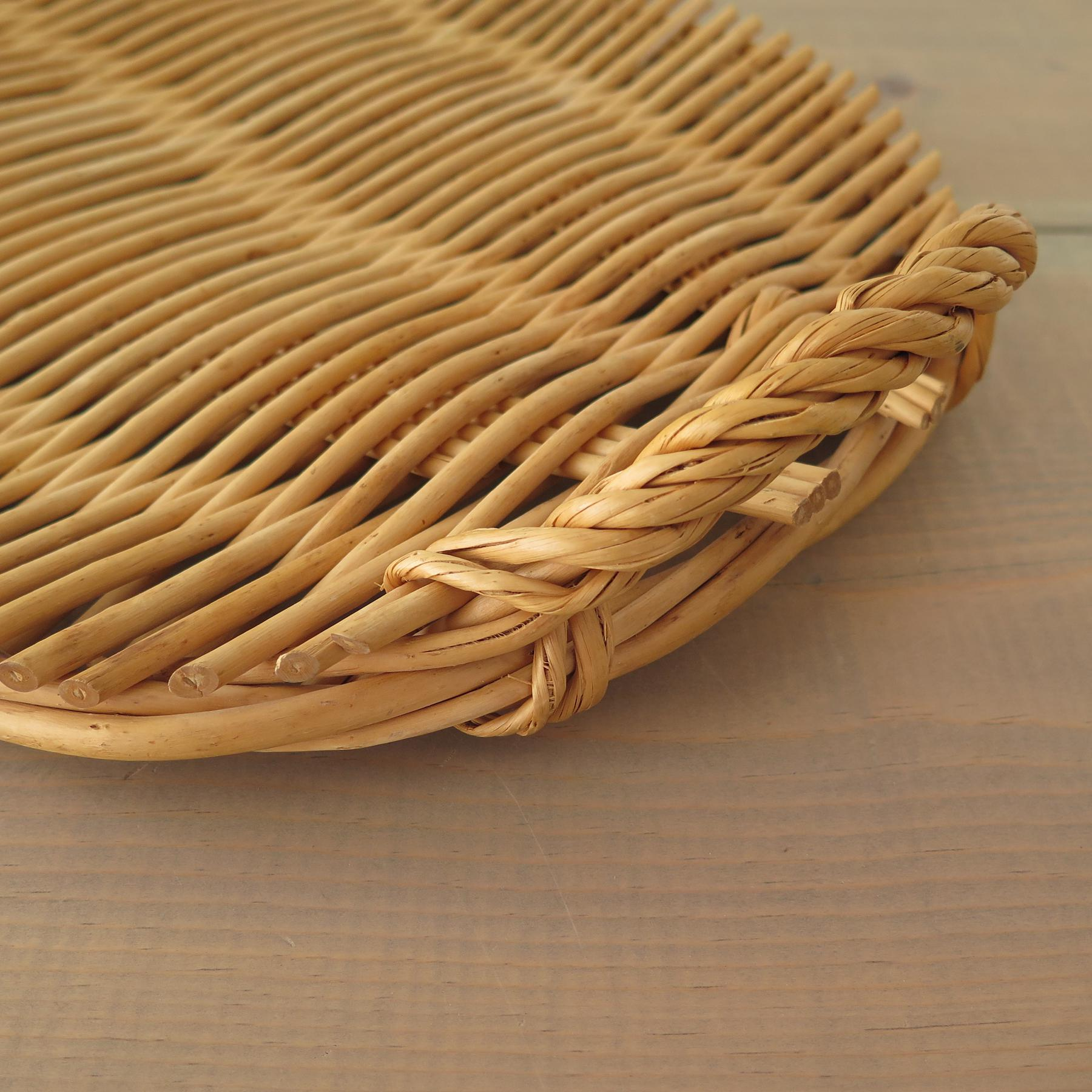 Oval Rattan Tray   Image 6 Of 7