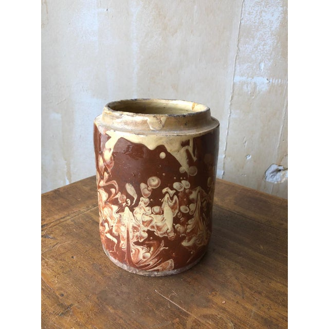 Italian Antique Pugliese Marbleized Canister For Sale - Image 3 of 10