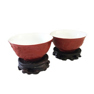 Marriage Porcelain Bowls Dragon & Phoenix S/2