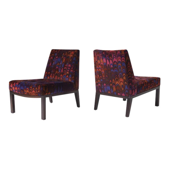 """Edward wormley """"Sophia"""" slipper chairs - a pair For Sale"""
