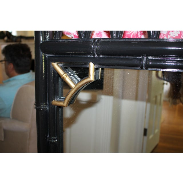 Vintage Mid-Century Thomasville Allegro Chinoiserie Bamboo Chinese Chippendale Mirror For Sale In Cincinnati - Image 6 of 9