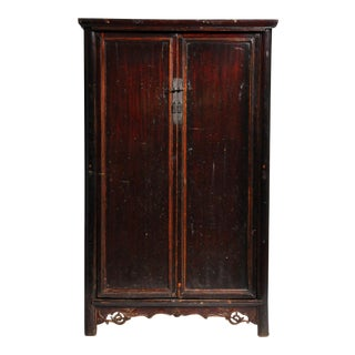 19th Century Compact Chinese Round-Corner Cabinet For Sale