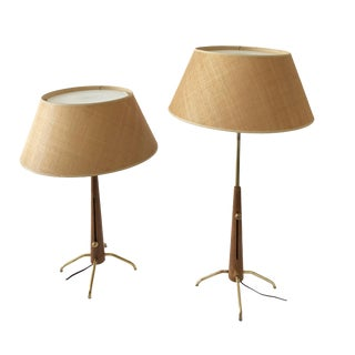 Gerald Thurston Adjustable Table Lamps - A Pair